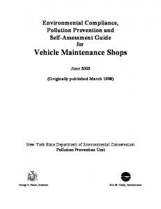 for Vehicle Maintenance Shops