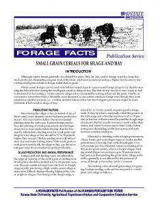 FORA29 Small Grain Cereals for Silage and Hay - Kansas State ...