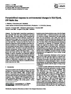 Foraminiferal response to environmental changes in