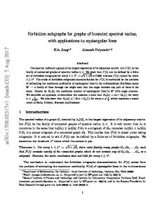 Forbidden subgraphs for graphs of bounded spectral radius, with ...
