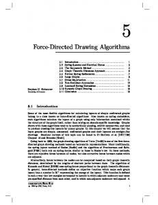 Force-Directed Drawing Algorithms