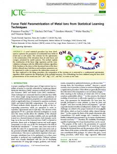 Force Field Parametrization of Metal Ions From Statistical Learning ...