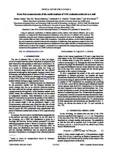 Force-free measurements of the conformations of ... - APS Link Manager