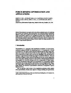 force sensing optimization and applications - Stanford University