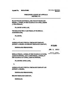 Force v. American Family - Wisconsin Court System
