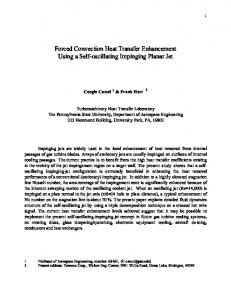 Forced Convection Heat Transfer Enhancement ... - Personal.psu.edu