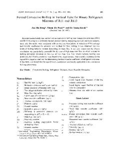 Forced convective boiling in vertical tube for binary ... - Springer Link