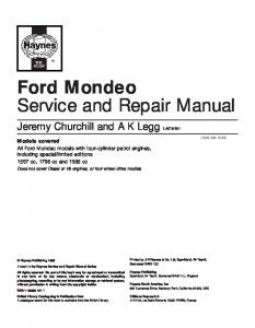 ford explorer service repair workshop manual