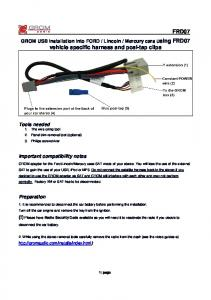 ford specific installation instructions using posi-tap