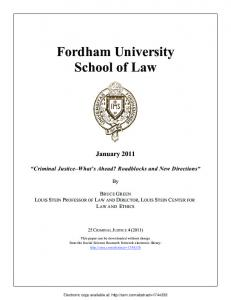 Fordham University School of Law - SSRN papers