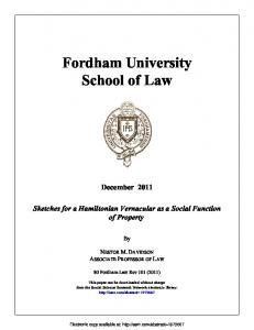 Fordham University School of Law - (SSRN) Papers