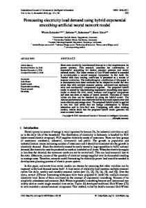 Forecasting electricity load demand using hybrid exponential ...