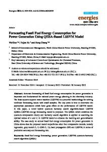 Forecasting Fossil Fuel Energy Consumption for