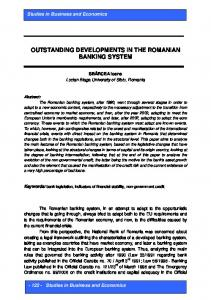 forecasting in the context of the romanian integration into the ...