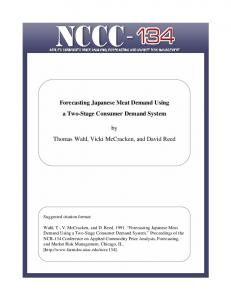 Forecasting Japanese Meat Demand Using a Two