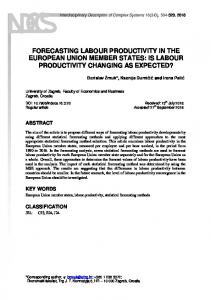forecasting labour productivity in the european union member states
