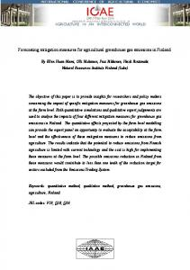 Forecasting mitigation measures for agricultural ... - AgEcon Search
