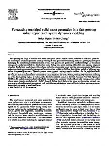 Forecasting municipal solid waste generation in a fast-growing urban ...