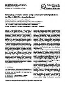 Forecasting severe ice storms using numerical weather prediction: the ...