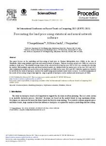 Forecasting the Land Price Using Statistical and Neural ... - Core