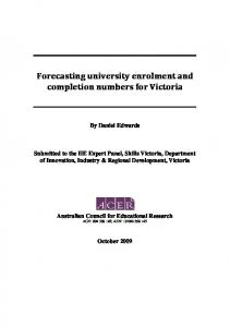 Forecasting university enrolment and completions for Victoria.docx