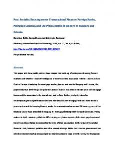 Foreign Banks, Mortgage Lending, and the ... - SSRN papers