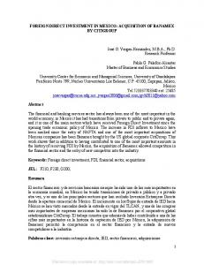 FOREIGN DIRECT INVESTMENT IN MEXICO - SSRN papers