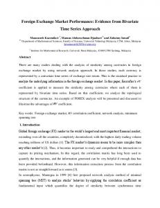 Foreign Exchange Market Performance: Evidence from ... - arXiv