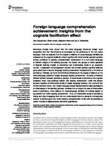 Foreign language comprehension achievement
