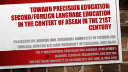 Foreign Language Education in