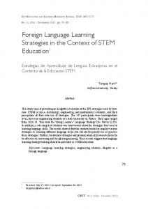 Foreign Language Learning Strategies in the Context of ... - Dialnet