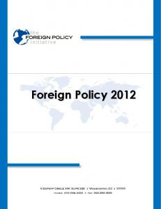 Foreign Policy 2012 - Foreign Policy Initiative