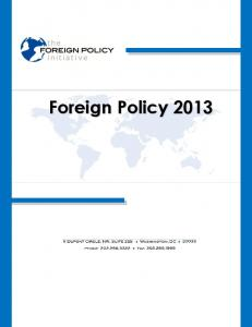 Foreign Policy 2013 - Foreign Policy Initiative