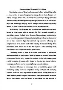 Foreign policy of Japan in Central Asia