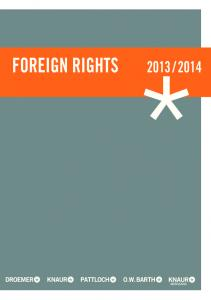 Foreign rights 2013 / 2014