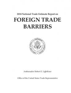 foreign trade barriers