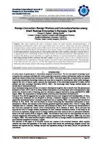 Foreign Workers and Internationalization among ...