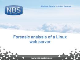 Forensic analysis of a Linux web server