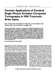 Forensic Applications of Cerebral Single Photon Emission Computed