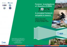 Forensic Investigations of Disasters (FORIN) - Integrated Research on ...