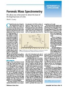 Forensic Mass Spectrometry - American Chemical Society ...