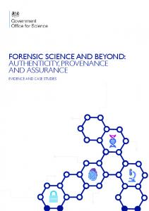 Forensic science and beyond: authenticity ... - Forensic Access