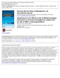 Forensic Science Policy & Management: An ...