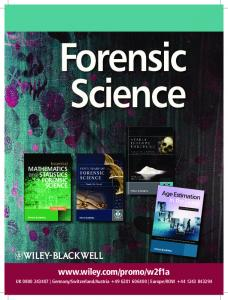 Forensic Science - Wiley