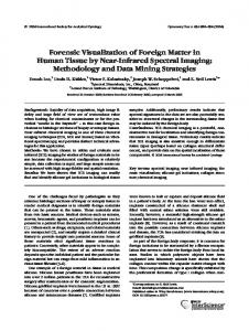 Forensic visualization of foreign matter in ... - Wiley Online Library