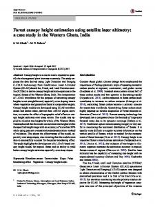 Forest canopy height estimation using satellite laser ...