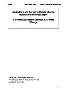 Forest Ecosystem Services and Climate Change - NERC