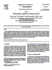 Forest health conditions in North America - PubAg - USDA