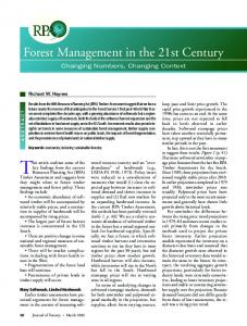 Forest Management in the 21st Century