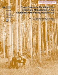 Forest reference conditions for ecosystem management in the ...